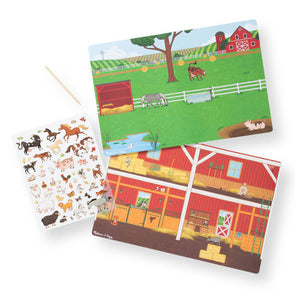 Melissa and Doug Transfer Sticker Scenes - Around the Farm - All-Star Learning Inc. - Proudly Canadian