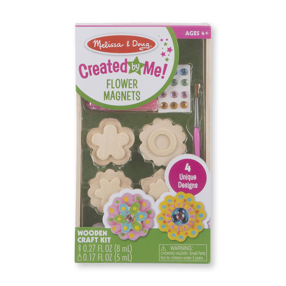 Melissa and Doug Created by Me! Flower Magnets Wooden Craft Kit - All-Star Learning Inc. - Proudly Canadian