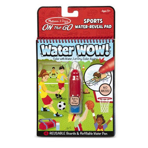 Melissa and Doug Water Wow! Sports Water-Reveal Pad - On the Go Travel Activity - All-Star Learning Inc. - Proudly Canadian
