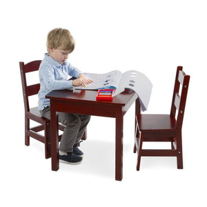 Melissa and Doug Wooden Table & Chairs - Espresso - All-Star Learning Inc. - Proudly Canadian