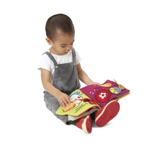 Melissa and Doug K's Kids Whose Bone? Cloth Book - All-Star Learning Inc. - Proudly Canadian