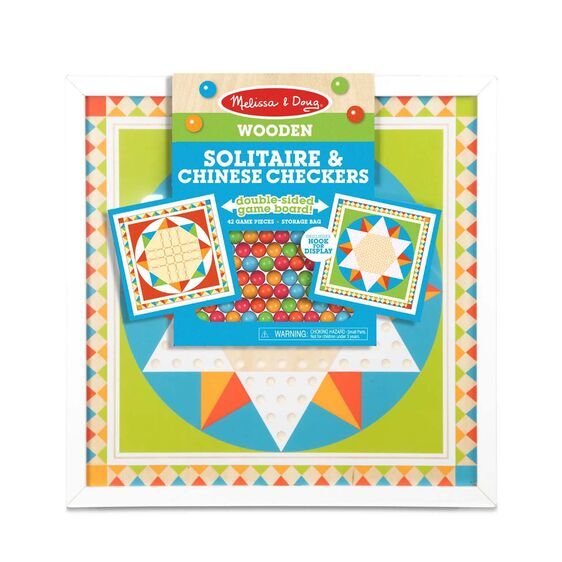 Melissa and Doug Wooden Solitaire & Chinese Checkers - All-Star Learning Inc. - Proudly Canadian