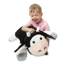 Melissa and Doug Cuddle Cow Jumbo Plush Stuffed Animal - All-Star Learning Inc. - Proudly Canadian