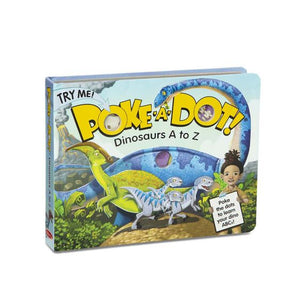 Melissa and Doug Poke-a-Dot - Dinosaurs A to Z Board Book - All-Star Learning Inc. - Proudly Canadian