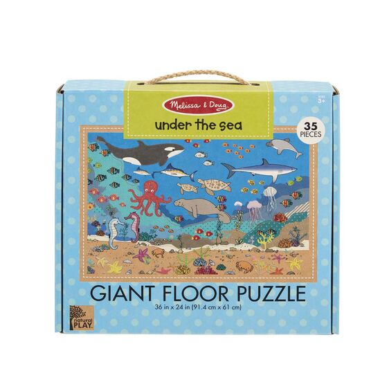 Melissa and Doug Natural Play Floor Puzzle: Under The Sea - All-Star Learning Inc. - Proudly Canadian