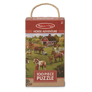 Melissa and Doug Natural Play Puzzle: Horse Adventure - 100 Pieces - All-Star Learning Inc. - Proudly Canadian