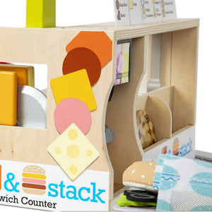 Melissa and Doug Slice & Stack Sandwich Counter