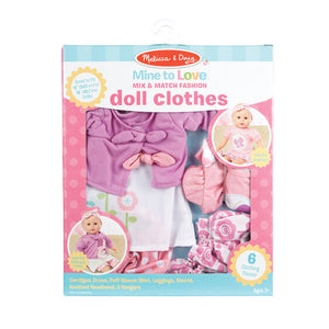 Melissa and Doug Mine to Love Mix & Match Fashion Doll Clothes - All-Star Learning Inc. - Proudly Canadian