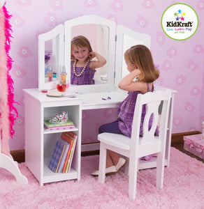 KidKraft Deluxe Vanity & Chair - All-Star Learning Inc. - Proudly Canadian