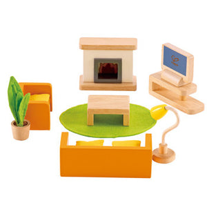 Hape Media Room Dollhouse Furniture - All-Star Learning Inc. - Proudly Canadian