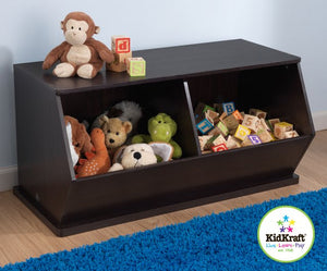 KidKraft Espresso Double Storage Unit - All-Star Learning Inc. - Proudly Canadian