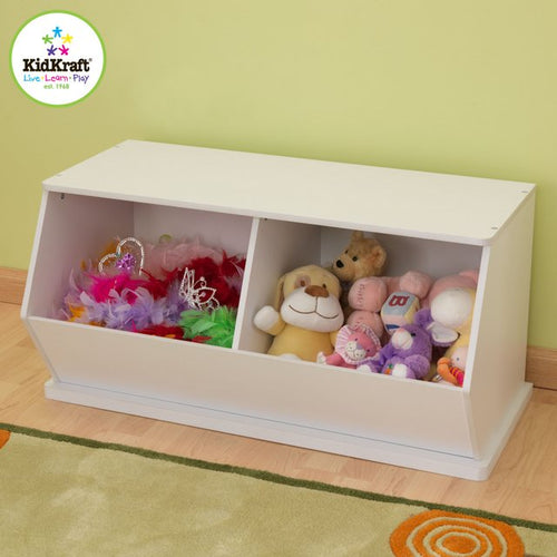 KidKraft White Double Storage Unit - All-Star Learning Inc. - Proudly Canadian