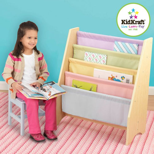 KidKraft Pastel Sling Bookshelf - All-Star Learning Inc. - Proudly Canadian