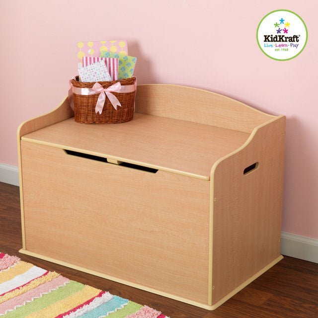 KidKraft Austin Toy Box in Natural - All-Star Learning Inc. - Proudly Canadian