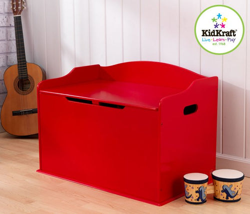 KidKraft Austin Toy Box in Red - All-Star Learning Inc. - Proudly Canadian