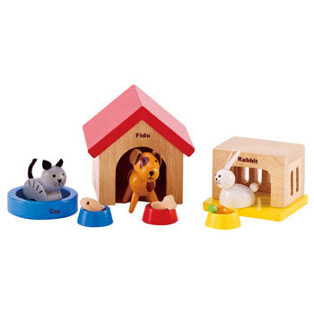 Hape Family Pets Dollhouse Furniture - All-Star Learning Inc. - Proudly Canadian