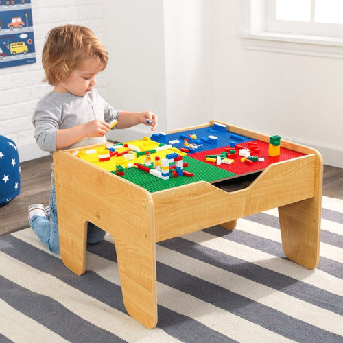 KidKraft 2-IN-1 Activity Table with Board - Natural - All-Star Learning Inc. - Proudly Canadian
