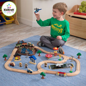 KidKraft Bucket Top Mountain Train Set - All-Star Learning Inc. - Proudly Canadian