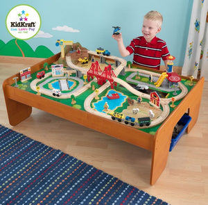 KidKraft Ride Around Town Train Set with Table - All-Star Learning Inc. - Proudly Canadian