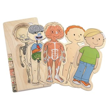 Hape Your Body - Boy 5 Layer Puzzle - All-Star Learning Inc. - Proudly Canadian