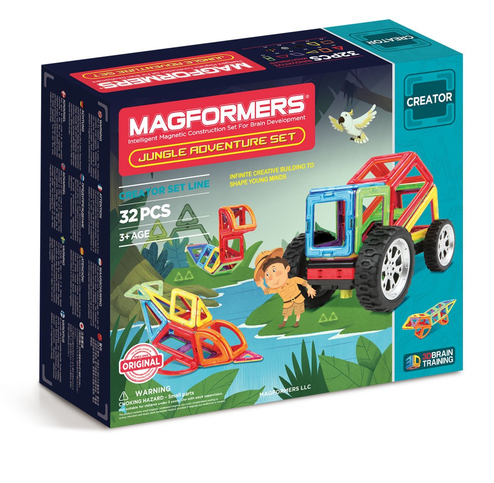 Magformers - 32 PCs Jungle Adventure Set - All-Star Learning Inc. - Proudly Canadian
