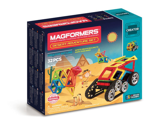 Magformers - 32 PCs Desert Adventure Set - All-Star Learning Inc. - Proudly Canadian