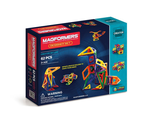 Magformers - 62 Piece Designer Set - All-Star Learning Inc. - Proudly Canadian