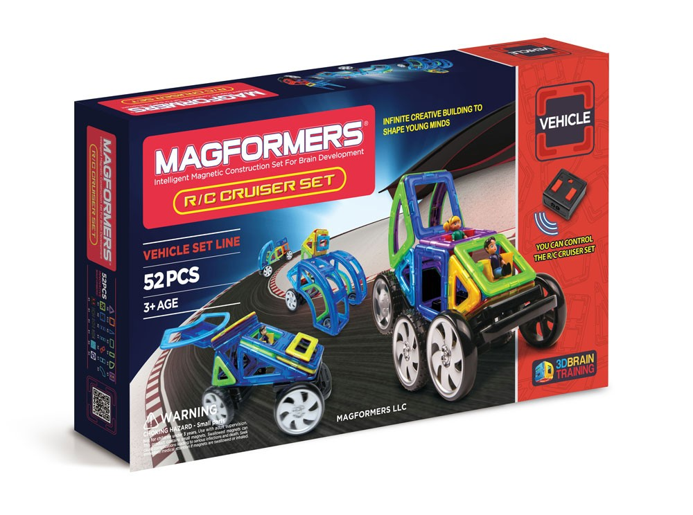 Magformers - 53 Pcs Remote Control Cruiser - All-Star Learning Inc. - Proudly Canadian