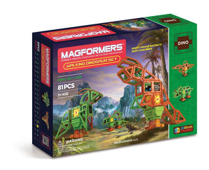 Magformers - 81 Pcs Walking Dinosaurs Set - All-Star Learning Inc. - Proudly Canadian