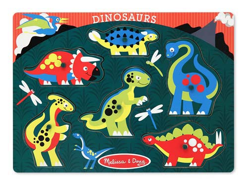 Melissa and Doug Dinosaurs Peg Puzzle - All-Star Learning Inc. - Proudly Canadian