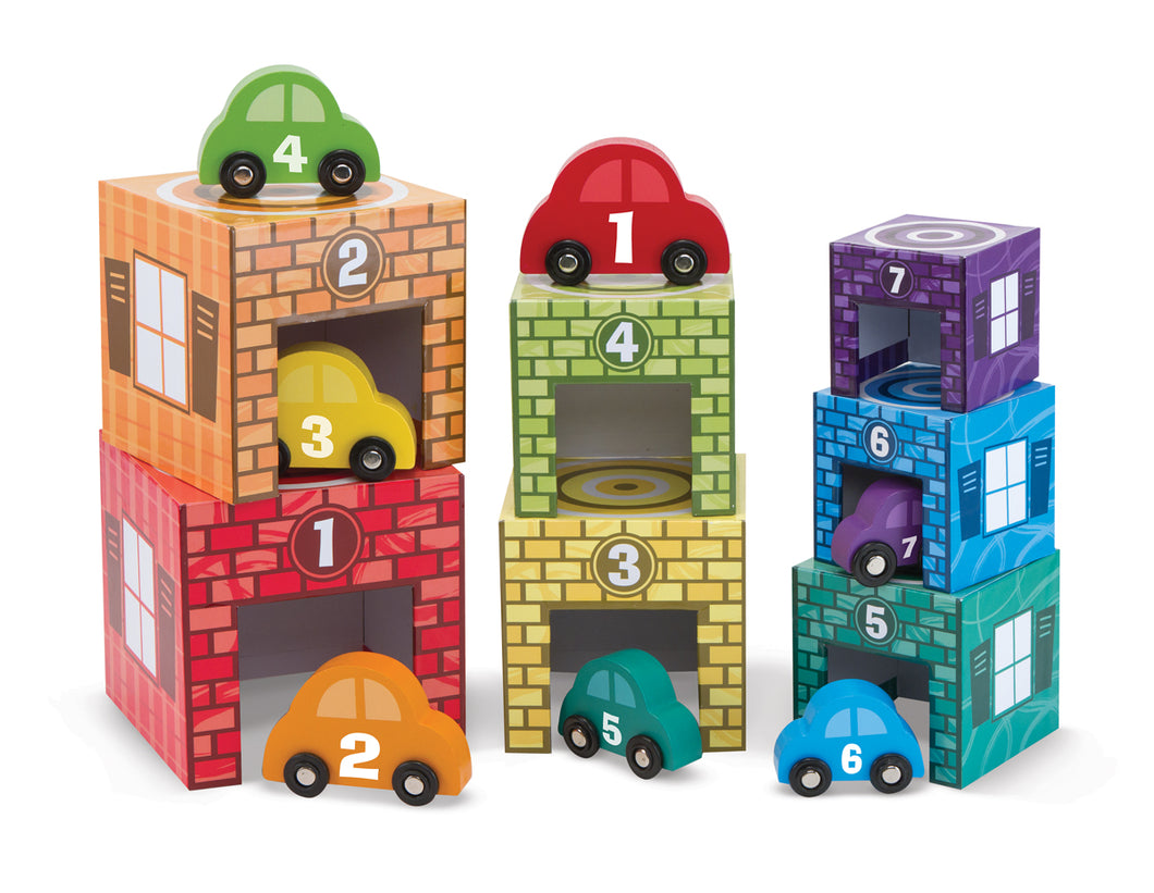 Melissa and Doug Nesting & Sorting Garages & Cars - All-Star Learning Inc. - Proudly Canadian