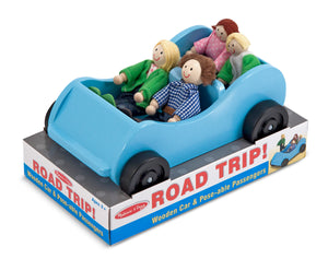 Melissa and Doug Road Trip! Wooden Car & Pose-able Passengers - All-Star Learning Inc. - Proudly Canadian