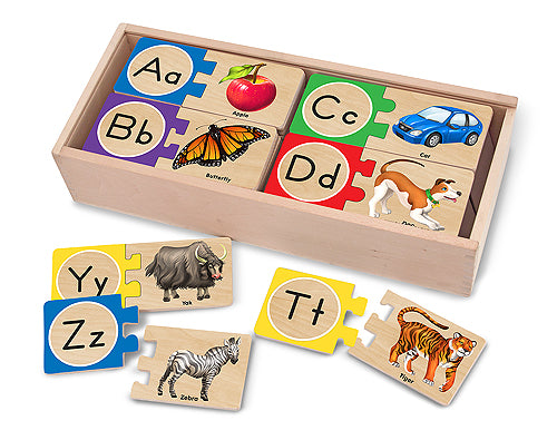 Melissa and Doug Self-Correcting Alphabet Letter Puzzles - All-Star Learning Inc. - Proudly Canadian
