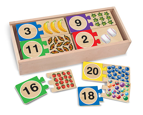 Melissa and Doug Self-Correcting Number Puzzles - All-Star Learning Inc. - Proudly Canadian