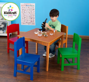 KidKraft Nantucket Table & 4 Primary Chairs - All-Star Learning Inc. - Proudly Canadian