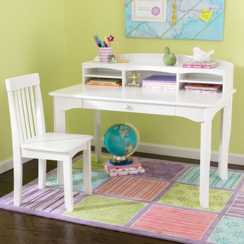 KidKraft Avalon Desk With Hutch - White - All-Star Learning Inc. - Proudly Canadian