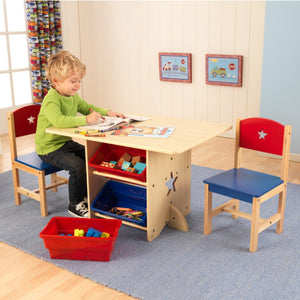 KidKraft Star Table & Chair Set With Primary Bins - All-Star Learning Inc. - Proudly Canadian