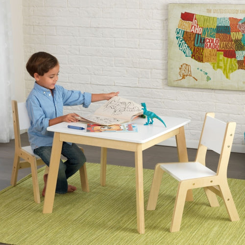 KidKraft Modern Table & Chair Set In White - All-Star Learning Inc. - Proudly Canadian