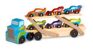 Melissa and Doug Mega Race Car Carrier - All-Star Learning Inc. - Proudly Canadian
