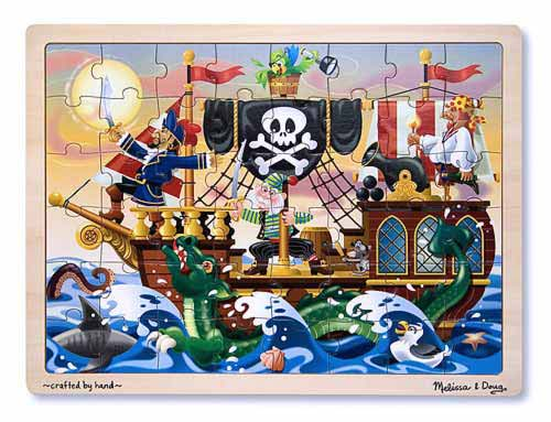 Melissa and Doug Pirate Adventure Jigsaw Puzzle - 48 Pieces - All-Star Learning Inc. - Proudly Canadian