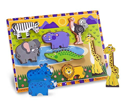 Melissa and Doug Safari Chunky Puzzle - 8 Pieces - All-Star Learning Inc. - Proudly Canadian
