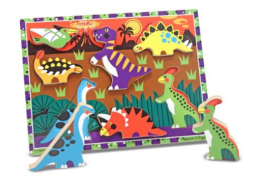 Melissa and Doug Dinosaurs Chunky Puzzle - 7 Pieces - All-Star Learning Inc. - Proudly Canadian