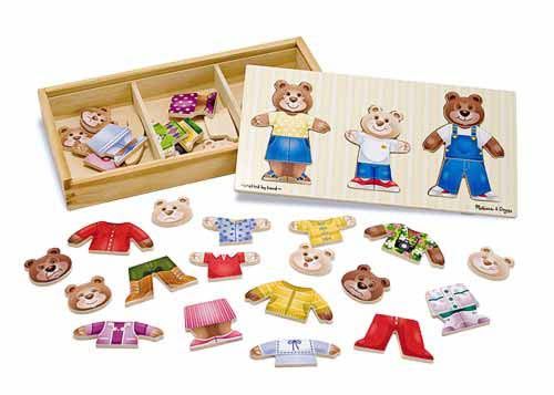 Melissa and Doug Bear Family Dress-up Puzzle - All-Star Learning Inc. - Proudly Canadian
