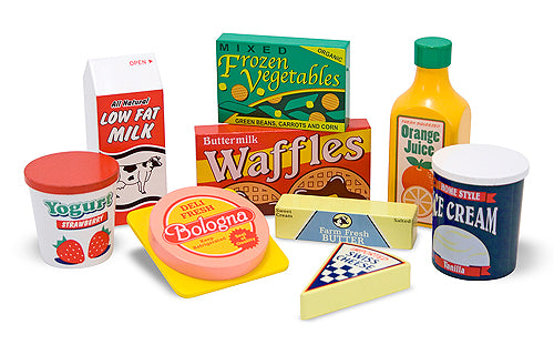 Melissa and Doug Fridge Food Set - Wooden Food Play - All-Star Learning Inc. - Proudly Canadian