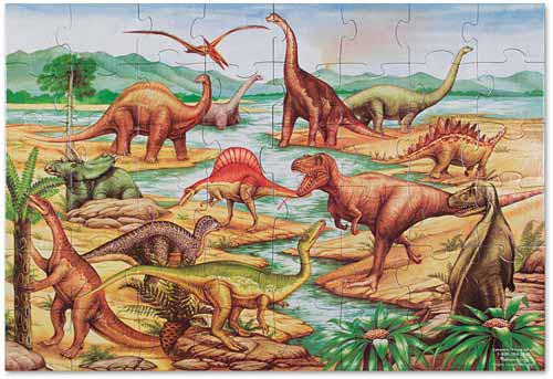 Melissa and Doug Dinosaur Floor Puzzle - All-Star Learning Inc. - Proudly Canadian