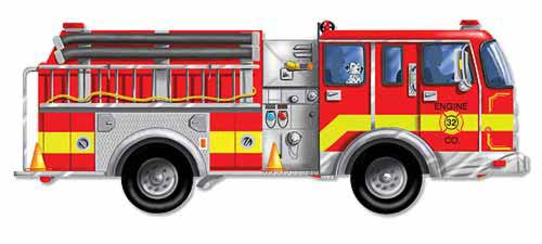 Melissa and Doug Giant Fire Truck Floor Puzzle - 24 Pieces - All-Star Learning Inc. - Proudly Canadian