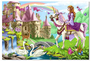 Melissa and Doug Fairy Tale Castle Floor Puzzle - 48 Pieces - All-Star Learning Inc. - Proudly Canadian