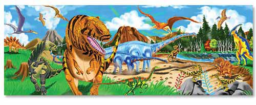 Melissa and Doug Land of Dinosaurs Floor Puzzle - All-Star Learning Inc. - Proudly Canadian