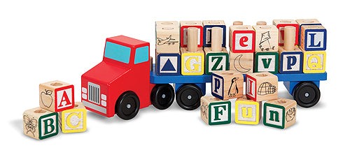 Melissa and Doug Alphabet Blocks Wooden Truck - All-Star Learning Inc. - Proudly Canadian