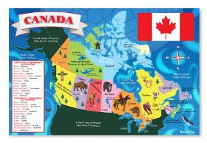 Melissa and Doug Canada Map Floor Puzzle - 48 pcs - All-Star Learning Inc. - Proudly Canadian